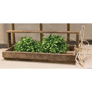 Slatted wooden garden tray tote