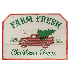 "Christmas ""Farm Fresh Christmas Trees"" Sign"