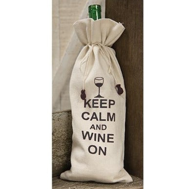 Keep Calm Wine Bottle Bag