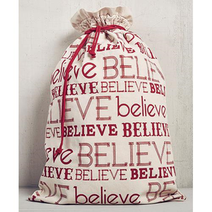 "Large ""Believe"" Gift Sack"