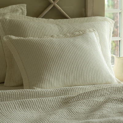 Cream Stripe Standard Sham