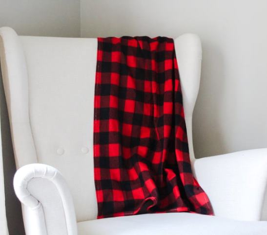 Red and Black Buffalo Check Throw