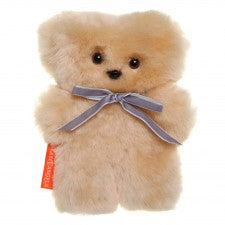 Sheepskin Little Cuddle Teddy Bear in Honey