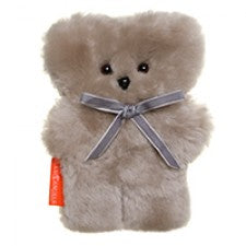 Sheepskin Little Cuddle Teddy Bear in Latte