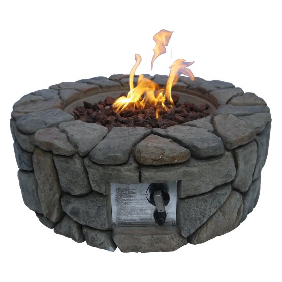 Outdoor Stone Gas Fire Pit