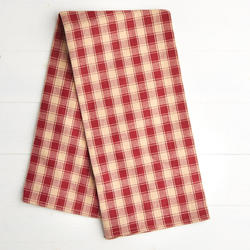 Red and Cream mini checked dish towel