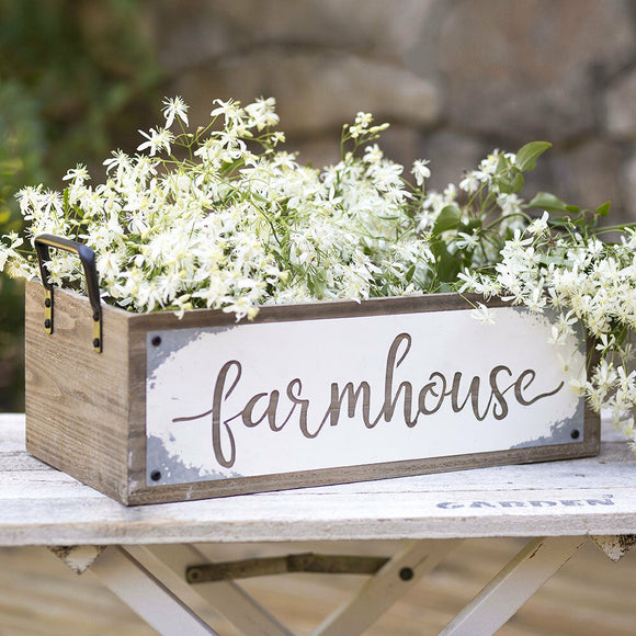 Wooden Farmhouse Storage Box