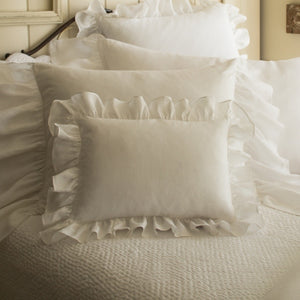 Verandah White Boudoir Pillow