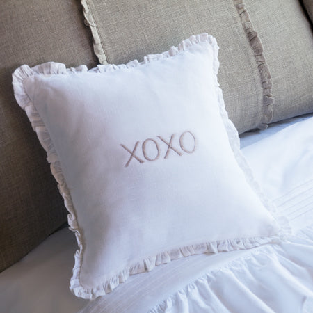 Embroidered XOXO Pillow