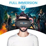 Virtual Reality Headset Includes Bluetooth Remote