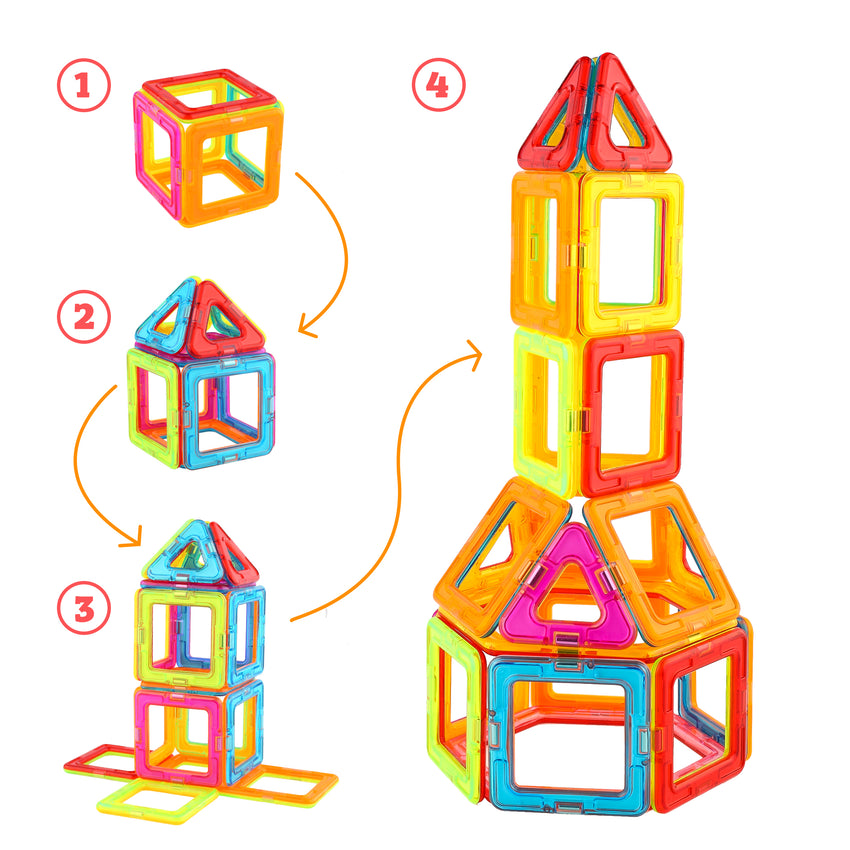Magnetic Blocks and Augmented Reality coloring book