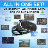 Virtual Reality Headset over 30 VR Apps & Bluetooth Remote Included