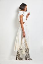 Load image into Gallery viewer, ELIZABETH midi Ivory dress