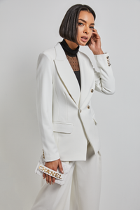 Double Breasted cotton blend tailored Jacket