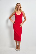 Load image into Gallery viewer, Super fitted stretch wool dress