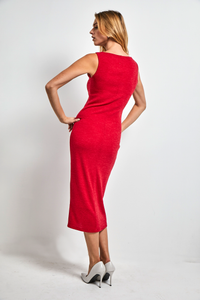 Super fitted stretch wool dress