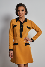 Load image into Gallery viewer, Mustard collar dress