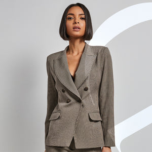 Double breasted tailored suit jacket