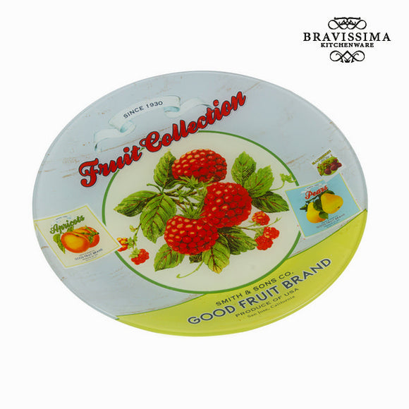 Assiette ronde fruits - Collection Kitchen's Deco by Bravissima Kitchen