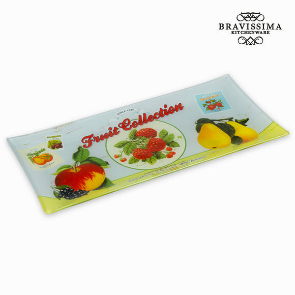 Assiette rectangulaire fruits - Collection Kitchen's Deco by Bravissima Kitchen