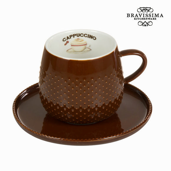 Tasse coffee avec soucoupe chocolat - Collection Kitchen's Deco by Bravissima Kitchen