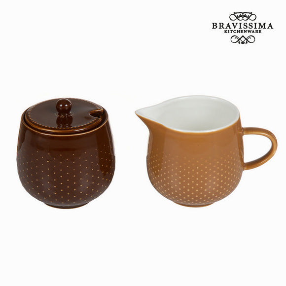 Kit pichet à lait et sucrier coffee - Collection Kitchen's Deco by Bravissima Kitchen