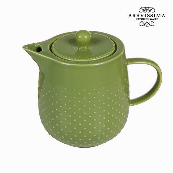 Théière tea time verte - Collection Kitchen's Deco by Bravissima Kitchen