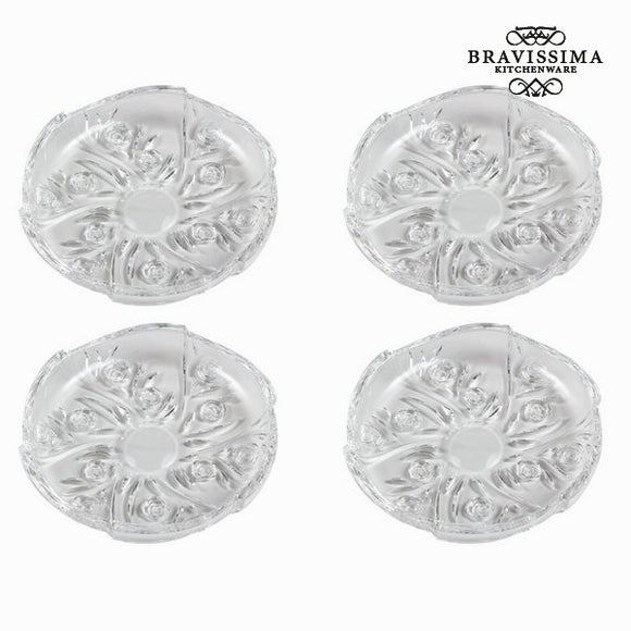 Assiette roses - Collection Pure Crystal Kitchen by Bravissima Kitchen