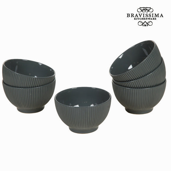 Lot de 6 ramequins gris - Collection Kitchen's Deco by Bravissima Kitchen