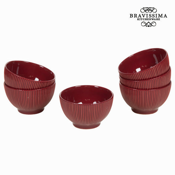 Lot de 6 ramequins bordeaux - Collection Kitchen's Deco by Bravissima Kitchen