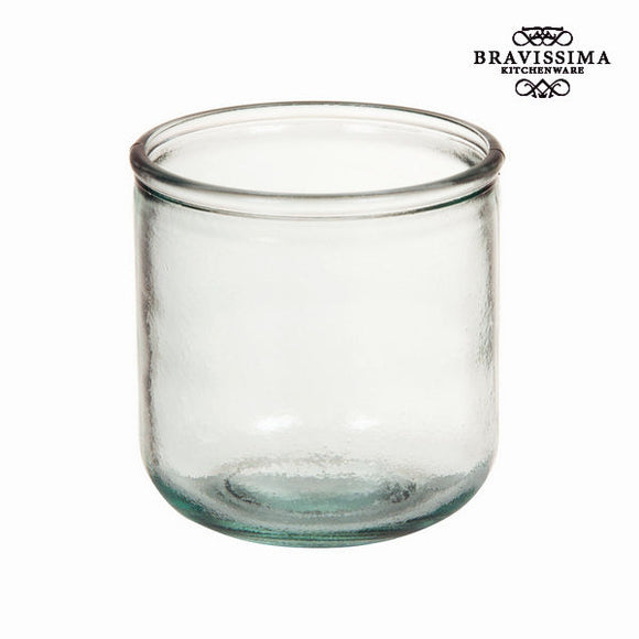 Verre en Verre Recyclé Lisse Bas - Collection Pure Crystal Kitchen by Bravissima Kitchen
