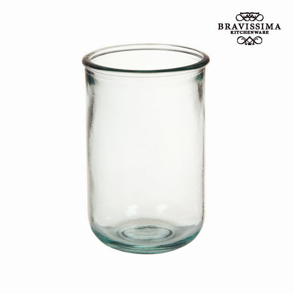 Verre en Verre Recyclé Lisse Élevé - Collection Pure Crystal Kitchen by Bravissima Kitchen
