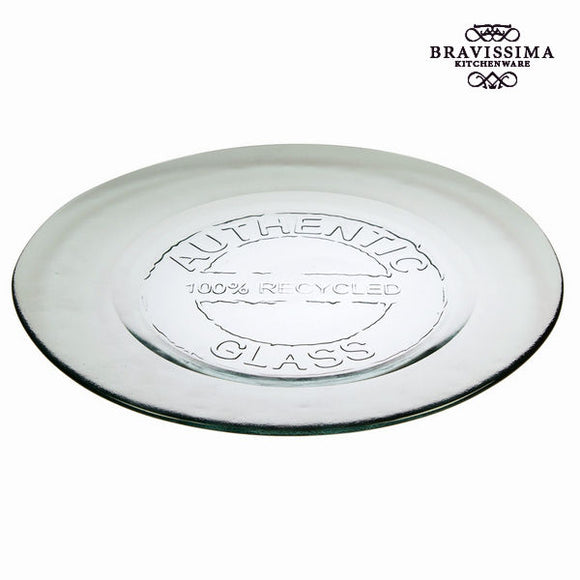 Assiette Plate en Verre Recyclé Transparent - Collection Pure Crystal Kitchen by Bravissima Kitchen