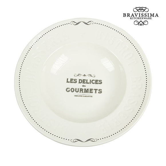 Assiette à pâtes Porcelaine - Collection Kitchen's Deco by Bravissima Kitchen