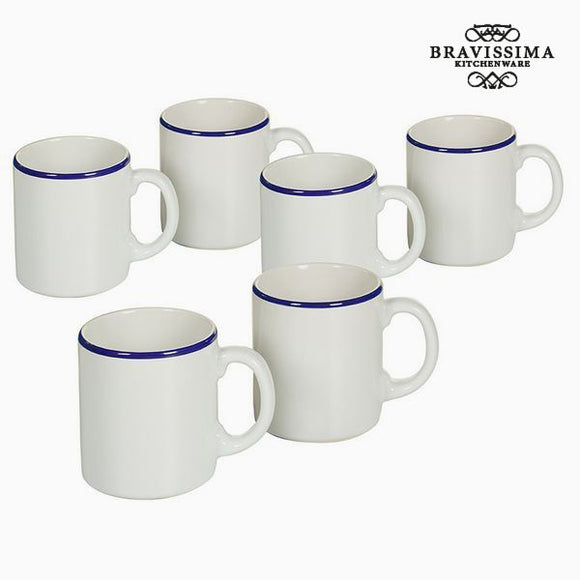 Ensemble de jarres Vaisselle Blanc Blue marine (6 pcs) - Collection Kitchen's Deco by Bravissima Kitchen
