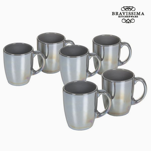 Ensemble de jarres Vaisselle Gris (6 pcs) - Collection Kitchen's Deco by Bravissima Kitchen