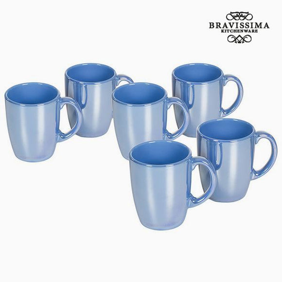 Ensemble de jarres Vaisselle Bleu (6 pcs) - Collection Kitchen's Deco by Bravissima Kitchen
