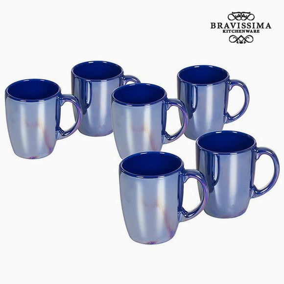 Ensemble de jarres Vaisselle Blue marine (6 pcs) - Collection Kitchen's Deco by Bravissima Kitchen