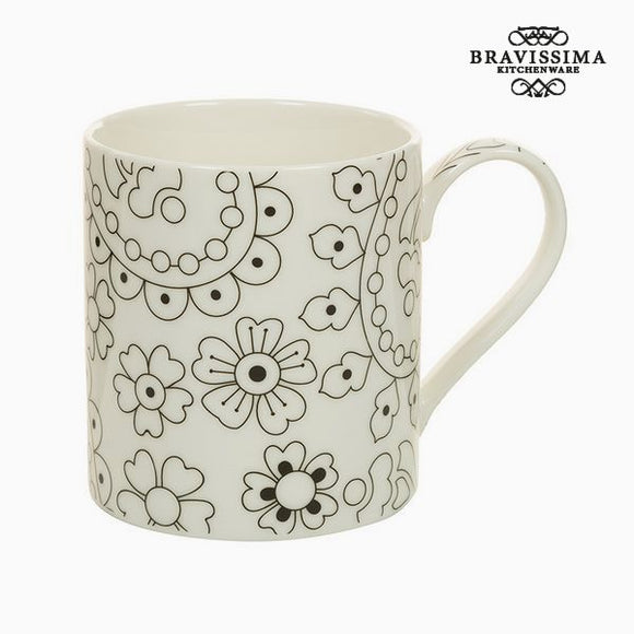 Tasse Porcelaine Noir Beige - Collection Kitchen's Deco by Bravissima Kitchen