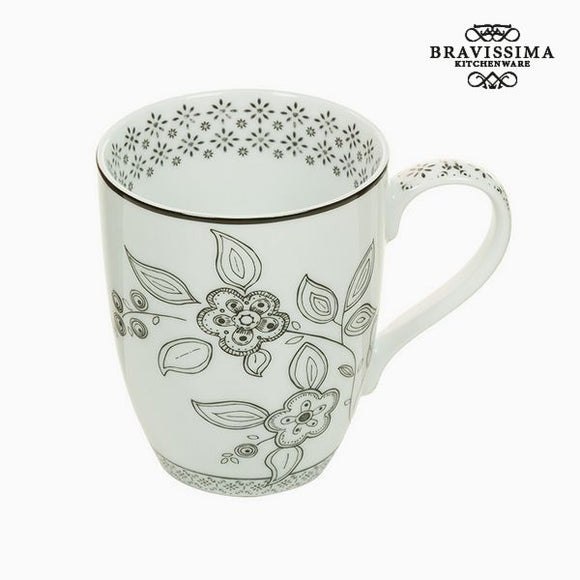 Tasse Porcelaine Fleurs - Collection Kitchen's Deco by Bravissima Kitchen