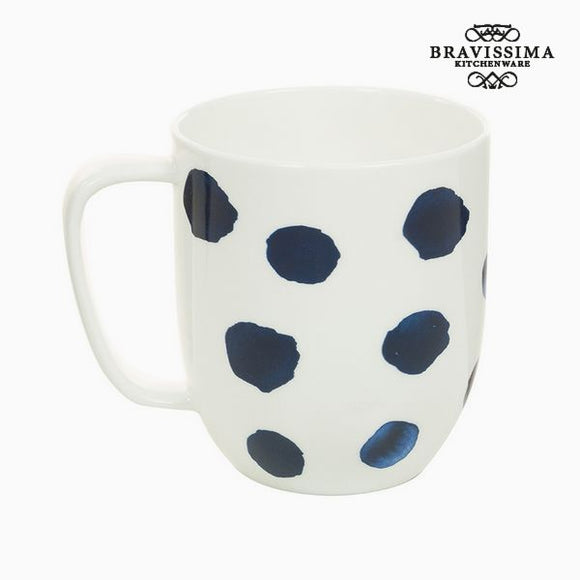 Tasse Porcelaine Taupes Bleu - Collection Kitchen's Deco by Bravissima Kitchen