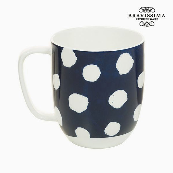 Tasse Porcelaine Taupes Blanc - Collection Kitchen's Deco by Bravissima Kitchen