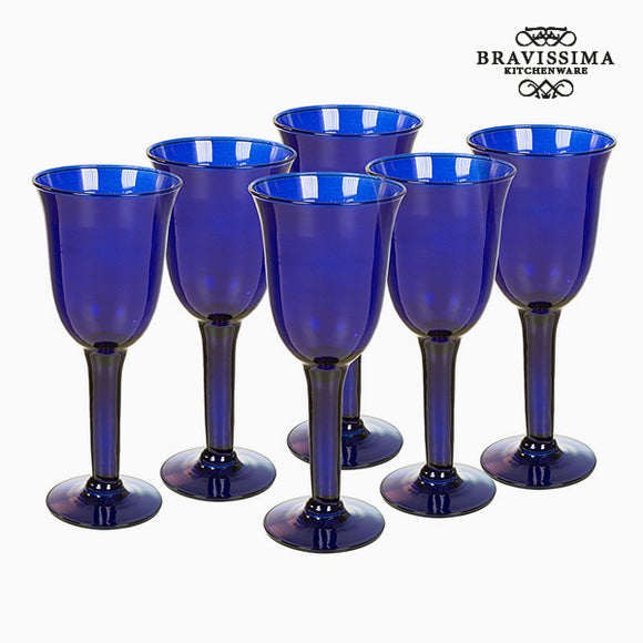 Verres en Verre Recyclé (6 pcs) 350 ml Bleu - Crystal Colours Kitchen Collection by Bravissima Kitchen