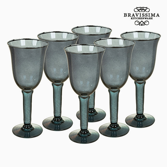 Verres en Verre Recyclé (6 pcs) 500 ml Gris - Crystal Colours Kitchen Collection by Bravissima Kitchen