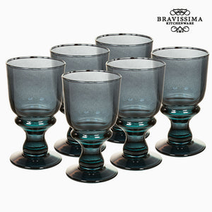 Verres en Verre Recyclé (6 pcs) 250 ml Gris - Crystal Colours Kitchen Collection by Bravissima Kitchen