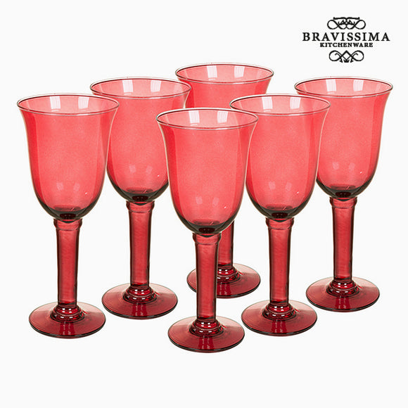 Verres en Verre Recyclé (6 pcs) 500 ml Bordeaux - Crystal Colours Kitchen Collection by Bravissima Kitchen
