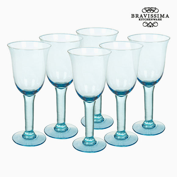 Verres en Verre Recyclé (6 pcs) 500 ml Bleu - Crystal Colours Kitchen Collection by Bravissima Kitchen