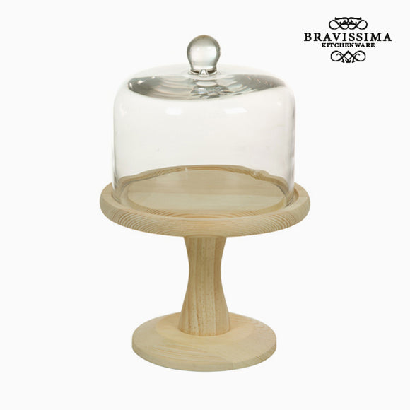 Plat à tarte Verre Bois - Collection Kitchen's Deco by Bravissima Kitchen