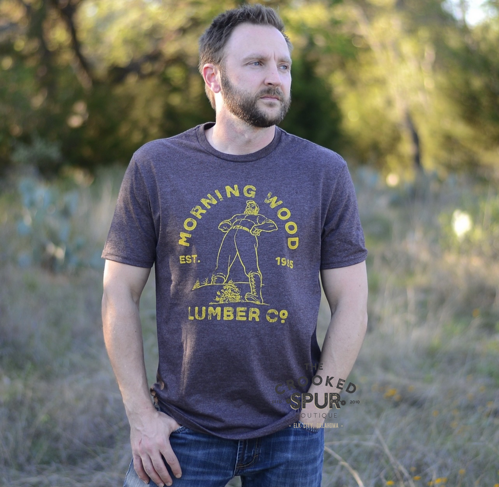 Morning Wood lumber co tee