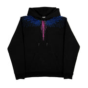 MARCELO BURLON COUNTY OF MILAN - BEIZER WINGS HOODIE NERO